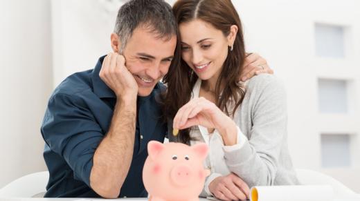 Couple Saving Money