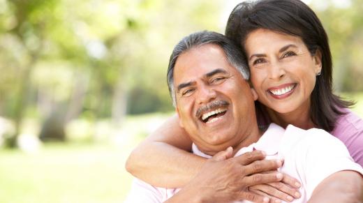 Senior couple discussing estate planning
